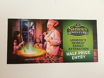 Shrek's Adventure London Half Price 50% Off Voucher Coupon Up To 5 People