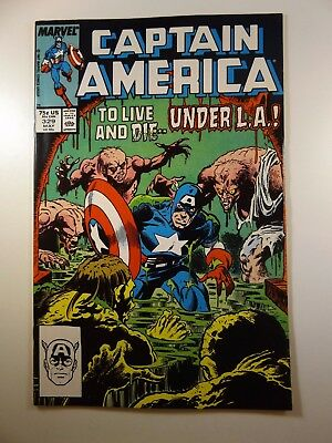 """Captain America #329 """"To Live and Die Under L.A.!"""" VF-NM Condition!!"""