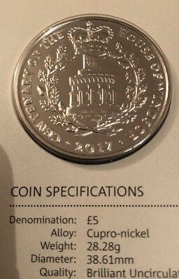 2017 Five Pound Coin. Uncirculated