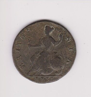 British.george Ii. 1735, Halfpenny. Scarce..very Collectable.g.29