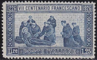 ITALY 1926 St. Francis L.1,25 perf. 13 1/2 well-centred MNH Oliva Cert. B14484