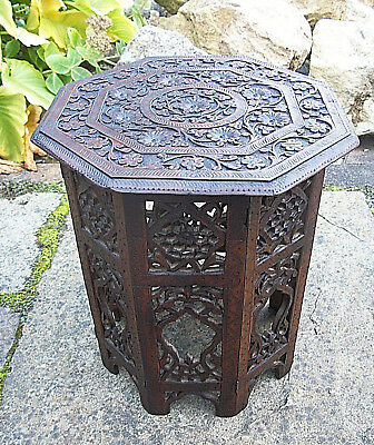 Antique Octagonal Folding Anglo/indian Side Table