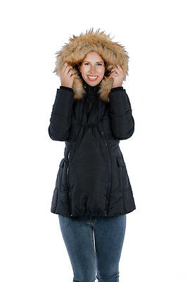 3-in-1 Mid-thigh Maternity Puffer Coat
