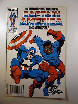 Captain America #334 The New Cap and Bucky!! Signed by B.McLeod!! VF Condition!!