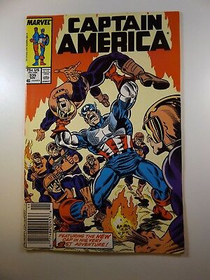 """Captain America #335 """"Baptism of Fire!"""" VF- Condition!!"""