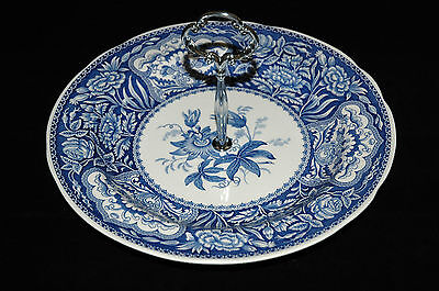 Vintage Spode Blue Room Floral collection Cake/Trinket/sweet stand - Beautiful!