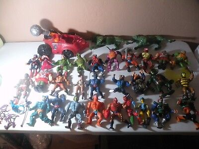 RARE Vintage 1980's Lot of Masters of The Universe Figures He-Man MOTU vehicle +
