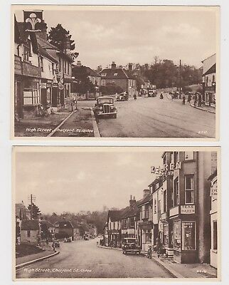 Two Great Old Cards  Chalfont St Giles High Street, Shops Etc Around 1930 Bucks