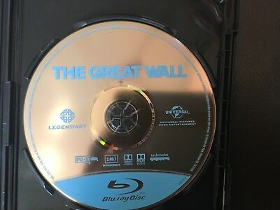 The Great Wall (Blu-ray only, no case) Great Condition!