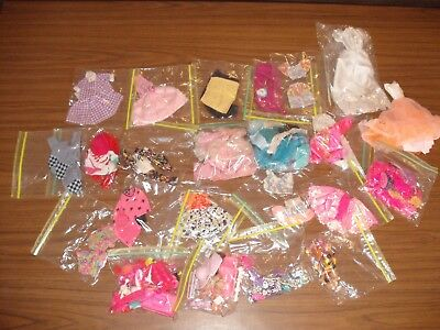Huge Lot Of Mostly 80's Vintage Barbie Clothes and Accessories Outfits Suits