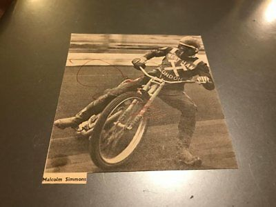 West Ham Hammers--Malcolm Simmons-1960's--Handsigned--Speedway--Magazine Picture