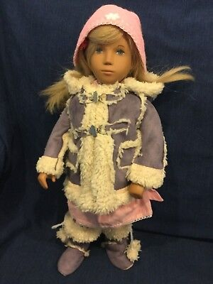 Sasha doll outfit with dress, tights, hat, coat and boots - doll not included