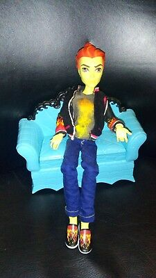 Great Monster High Boy Doll Heat Burns Original Outfit Great Condition