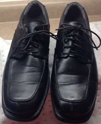 Neil Deer Stags Oxford Dress Shoes Mens Sz 12M Black Lace Up Padded Collar
