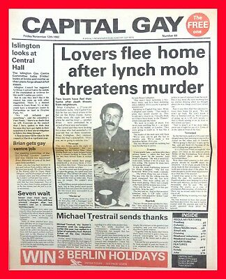 Capital Gay 1982 Photo 6x4 AIDS History LGBT News William Whitelaw Queer 4x6