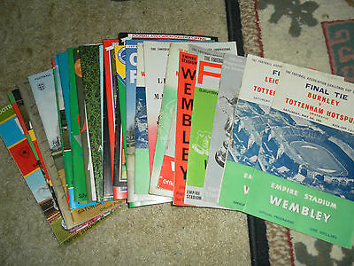 Fa Cup Final Programmes - Choose From List - 1889 - 1984