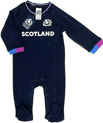 Scotland Rfu Rugby Kit Babies Pram Sleep Suit Baby Six Nations Grow Body Romper
