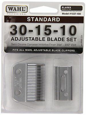 Wahl Professional Animal Standard Adjustable Replacement Blade Set Size 30-15-10