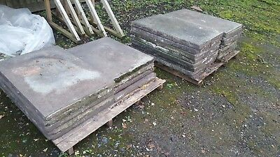 3ft x 2ft reclaimed concrete paving slabs garden patio flags £4 each collection