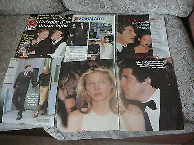 John F. Kennedy Jr. & Carolyn Clippings Découpures 7 Jours 1999