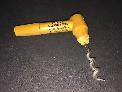 Vintage Palimar Liquor Falconer, Ny Wood Corkscrew
