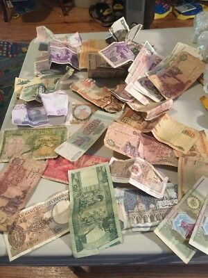 About 40 Pieces Of Foreign Currency Some exchange Some Antique