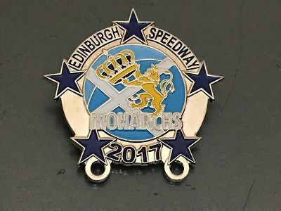 Edinburgh Monarchs---2017---Speedway Badge---Silver Metal