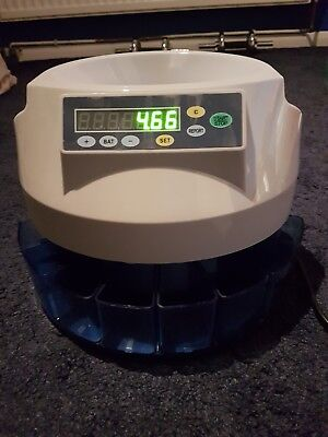 Works only Old £1Auto UK Coin Counter Sorter Money Cash Count Electric Machine