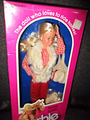 BARBIE WESTERN DOLL 1982 HORSE LOVIN No.1757 NEW IN BOX