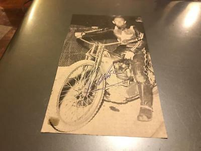 Wimbledon Dons--Ronnie Moore-1960's-Handsigned--Speedway--Magazine Picture