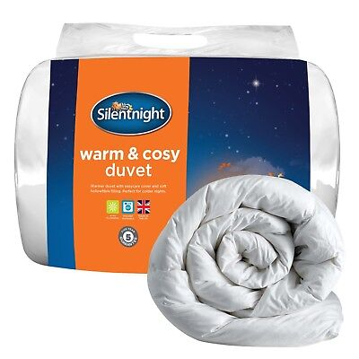 Bed Microfibre Cover Warm And Cosy 13.5 Tog Duvet King White Winter Silentnight