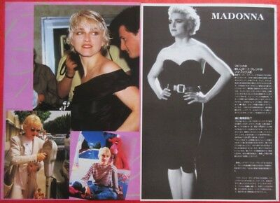Madonna 1986 Clipping Japan Magazine Cutting N4 P14 2Page