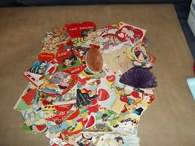 Large Lot of Vintage 1930's-1960's Valentine Cards~Mechanical~Fold-out~Stand-up