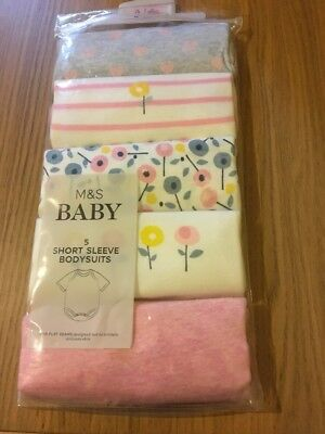 marks and spencer Baby Bodysuits 3-6 Months Pink Mix Short sleeve