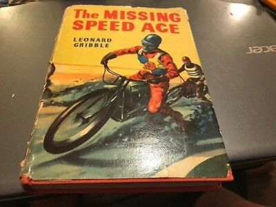 Speedway--The Missing Speed Ace--By Leonard Gribble--Rare 1950's Story Book