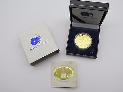 2006 1 oz Gold Proof Commemorative Medal 999 Pure Mint of Norway Nelson Mandela