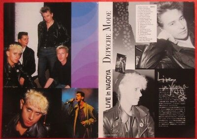 DEPECHE MODE in NAGOYA JAPAN Martin Gore Dave Gahan 1986 CLIPPING N4 P14 4PAGE