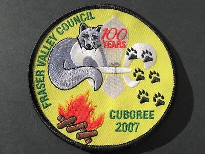 Boy Scouts Canada 2007 Fraser Valley Council Cuboree 100 Years Embroidered Patch