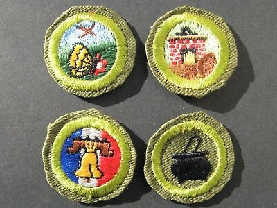 Boy Scouts Of America Bsa 4 1970's  Merit Embroidered Twill Patch Cooking