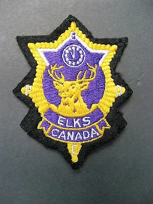 Fraternal Order Of Elks Canada F.o.e. Embroidered Patch New