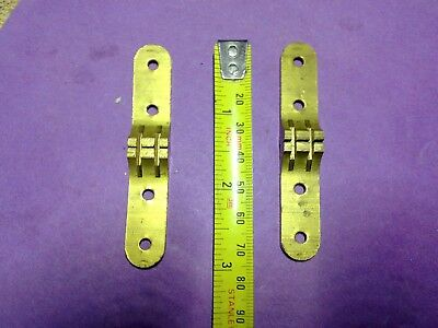 card table hinges x 2, 76 mm, brass