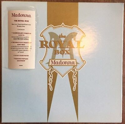 Madonna The Royal Box Sealed Cassette and VHS 1990 + Postcards + Poster RARE
