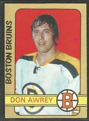 1972-73 Opc (O-Pee-Chee) Nhl Hockey: #170 Don Awrey, Boston Bruins, Nrmt+