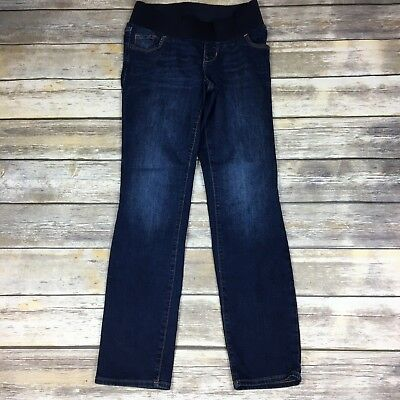 OLD NAVY MATERNITY Women's Size 4 Dark Wash Low Panel Straight Leg Jeans