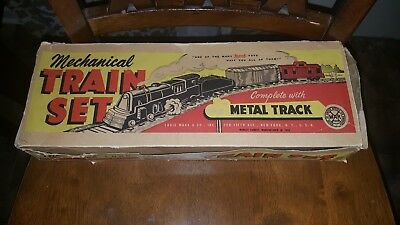 Marx Vintage Mechanical Wind Up Train Set with Box Runs Great