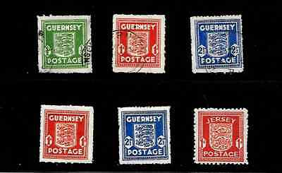 Great Britain: Nice 'german Occupation Stamps' Guernsey & Jersey   See Scans