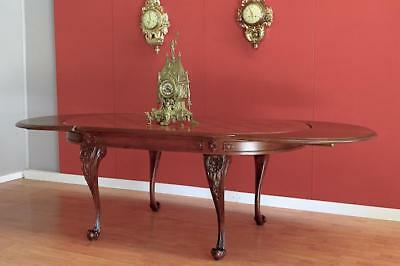 Antique Vintage French Two leaf extension Dining table 8-12  seats Walnut France