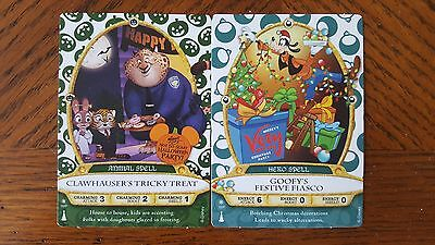 Sorcerers of the Magic Kingdom Clawhauser and Goofy Party Cards