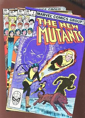 New Mutants 1, 2, 3, 4 * 4 Book Lot * 1st Four Issues!!!