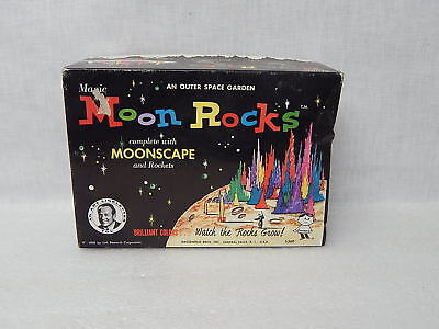 Vintage Magic Moon Rocks Complete With Moonscape & Rockets Hasbro Original Box